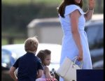 May 2018: Duchess from Cambridge and her children visited horse races in Norfolk